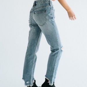 NEW Free People Straight Leg Jeans